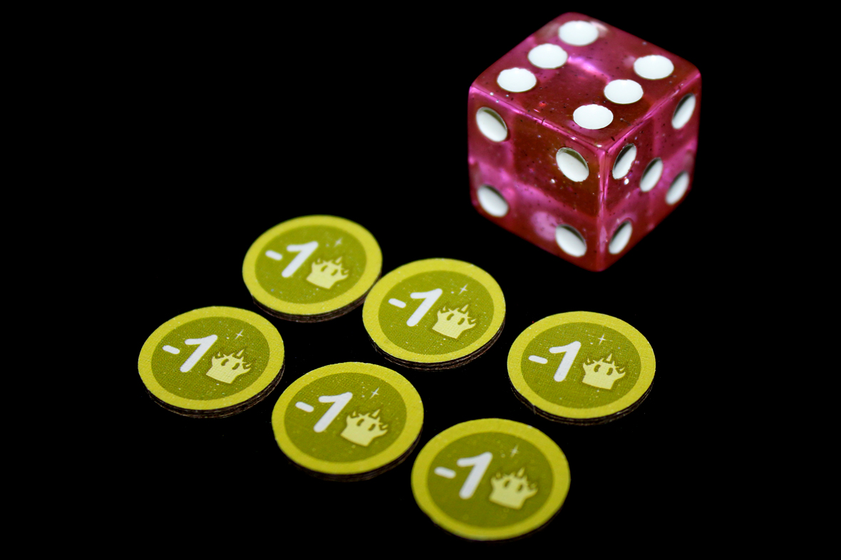 Dice and Monster Weakening Tokens