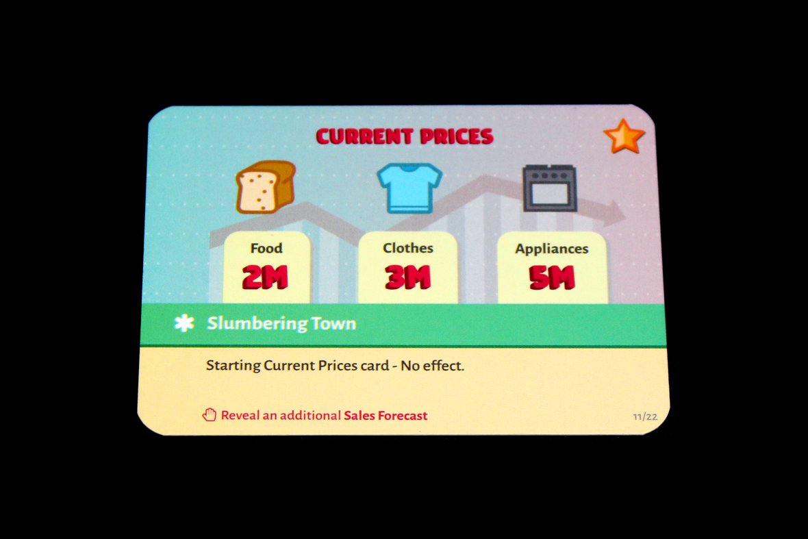 Starting Current Prices Card