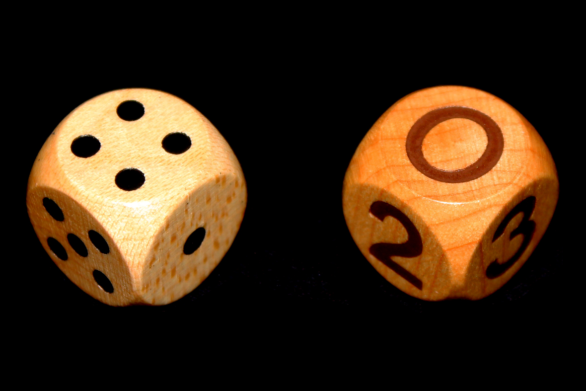 Pip and Number Dice