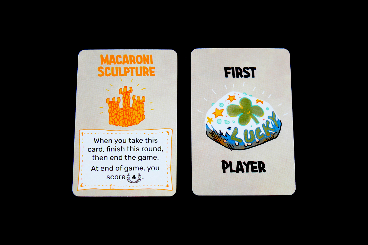 First Player and Macaroni Sculpture